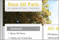 Resa till Paris hemsidan